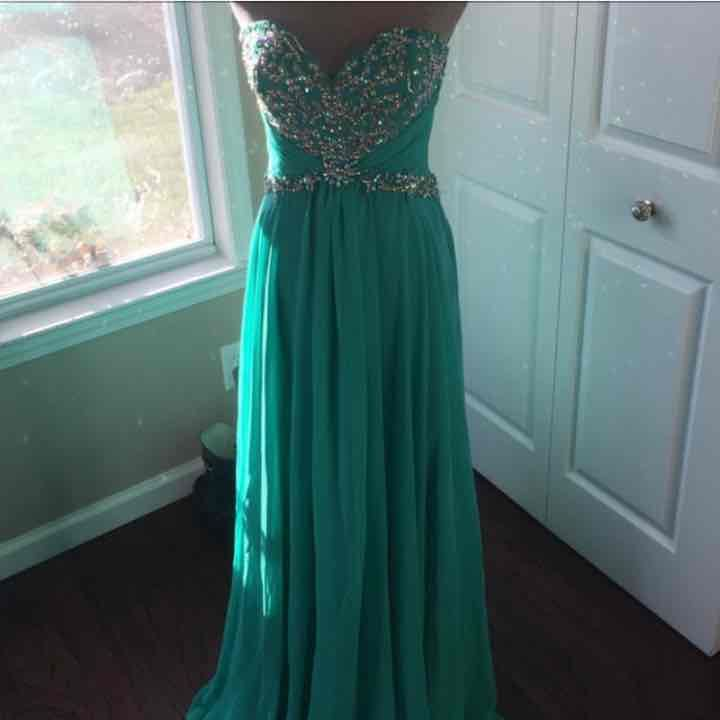 Offers Accepted! Teal Jeweled Prom Dress - Mercari: Anyone can buy ...