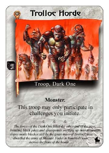 The Wheel Of Time Card Game  Trolloc Horde  Wheel Of Time