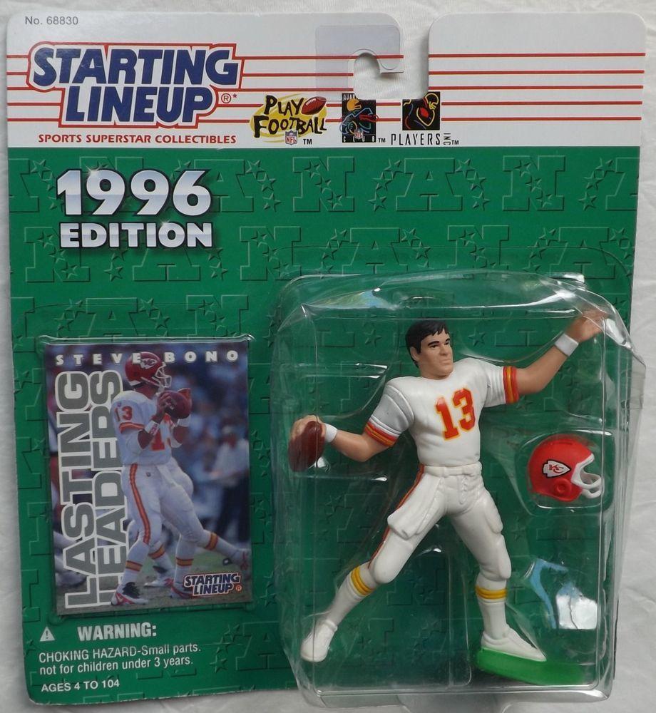 Steve Bono Kansas City Chiefs NFL Football Action Figure 1996 Starting Lineup  #StartingLineup