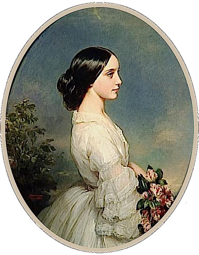 1860 Carmen Aguado Duchesse De Montmorency By Franz Xaver Winterhalter Chateaux De Versailles E Art Painting Oil Franz Xaver Winterhalter Victorian Paintings