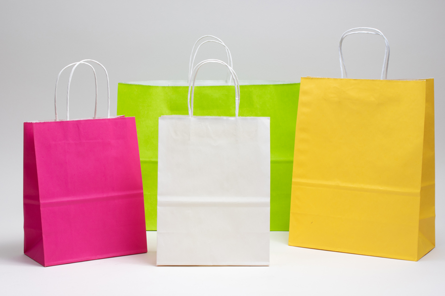 Bright Color Paper Bags In 2020 Paper Paper Shopping Bag Colored Paper