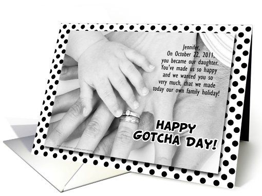 For adopted daughter on gotcha day or adoption anniversary card for daughter card for adopted daughter on gotcha day or adoption anniversary greeting card by doreen erhardt m4hsunfo
