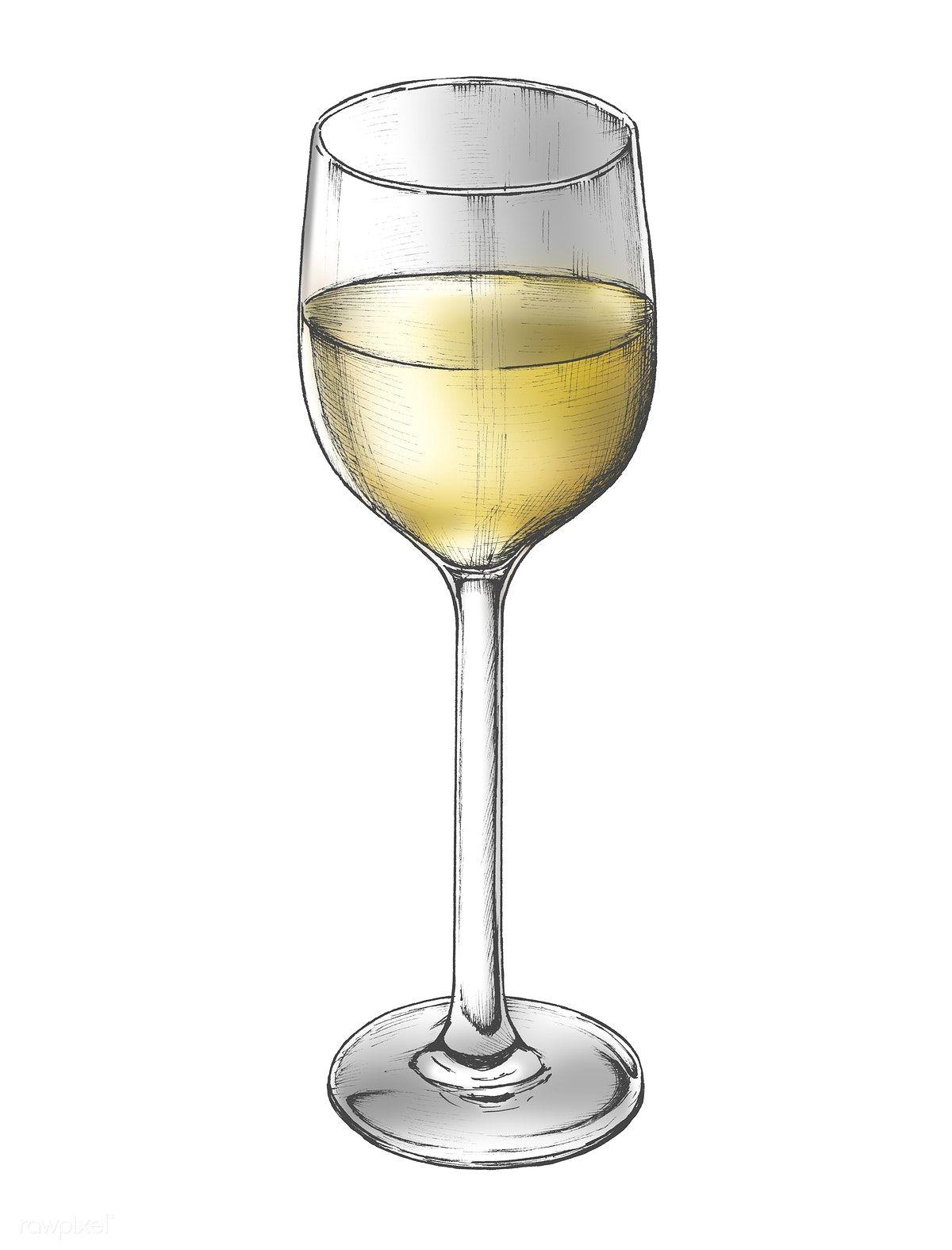 White Wine Glasses Clipart