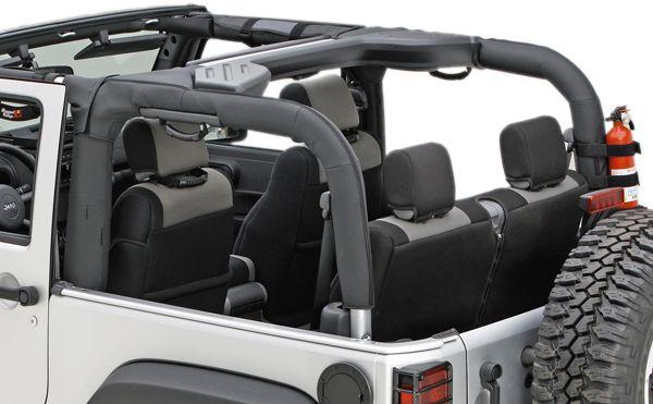 Jeep Wrangler 2 Door Black Polyester Roll Bar Cover 2007 2012 Jeep Wrangler Jk Jeep Wrangler Wrangler Jk