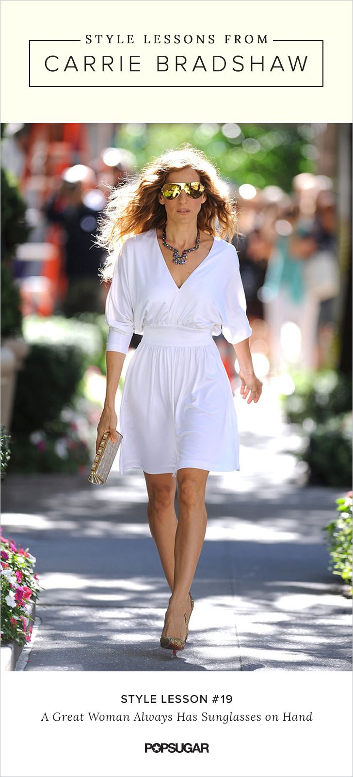 Style ideas to steal from Carrie Bradshaw on Sex and the City