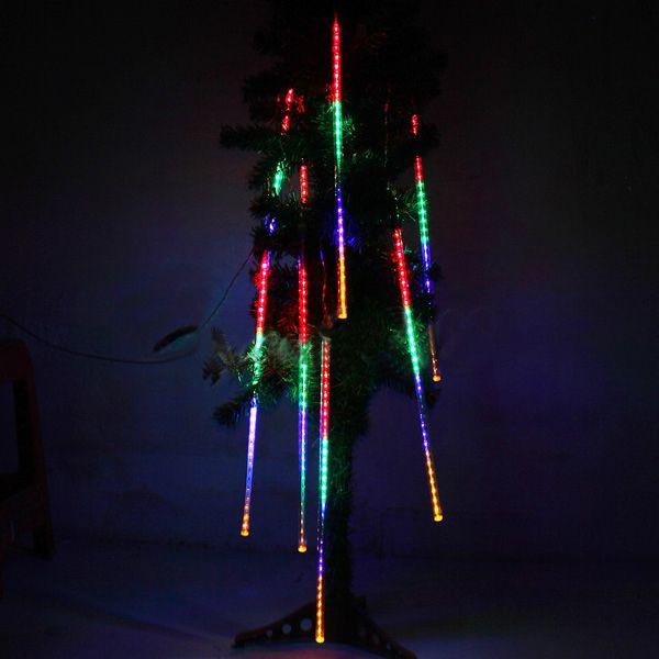 Led Waterproof Snowfall Meteor Light Christmas Lights Outdoor 100 240v Outdoor Christmas Lights Meteor Lights Christmas Lights