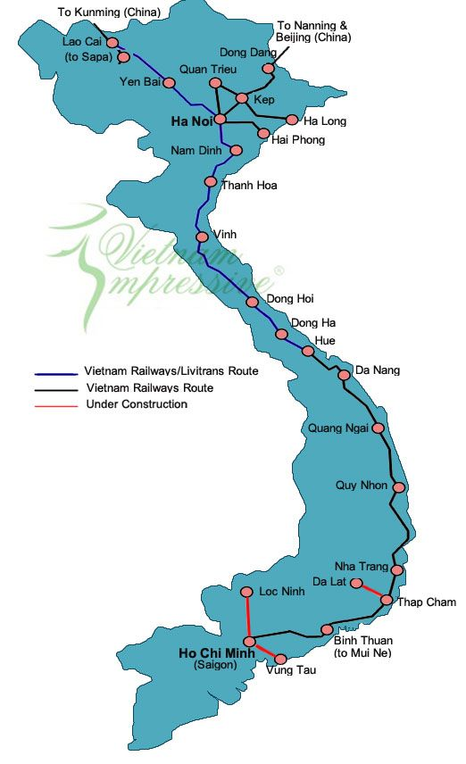 Vietnam Complete Train Map For Your Easy Reference Avec Images
