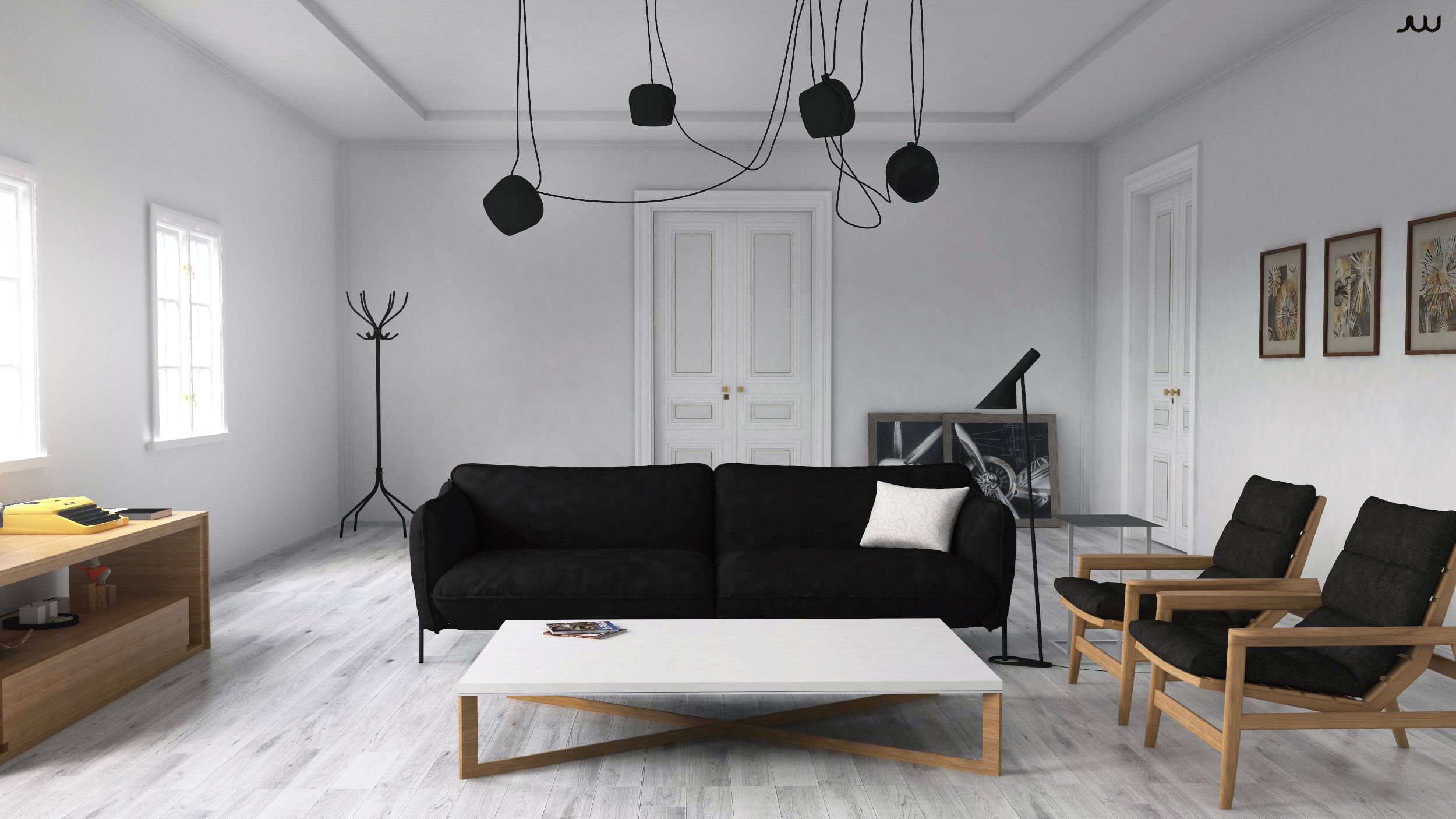 Making of scandinavian interior with sketchup vray and for Scandinavian interior