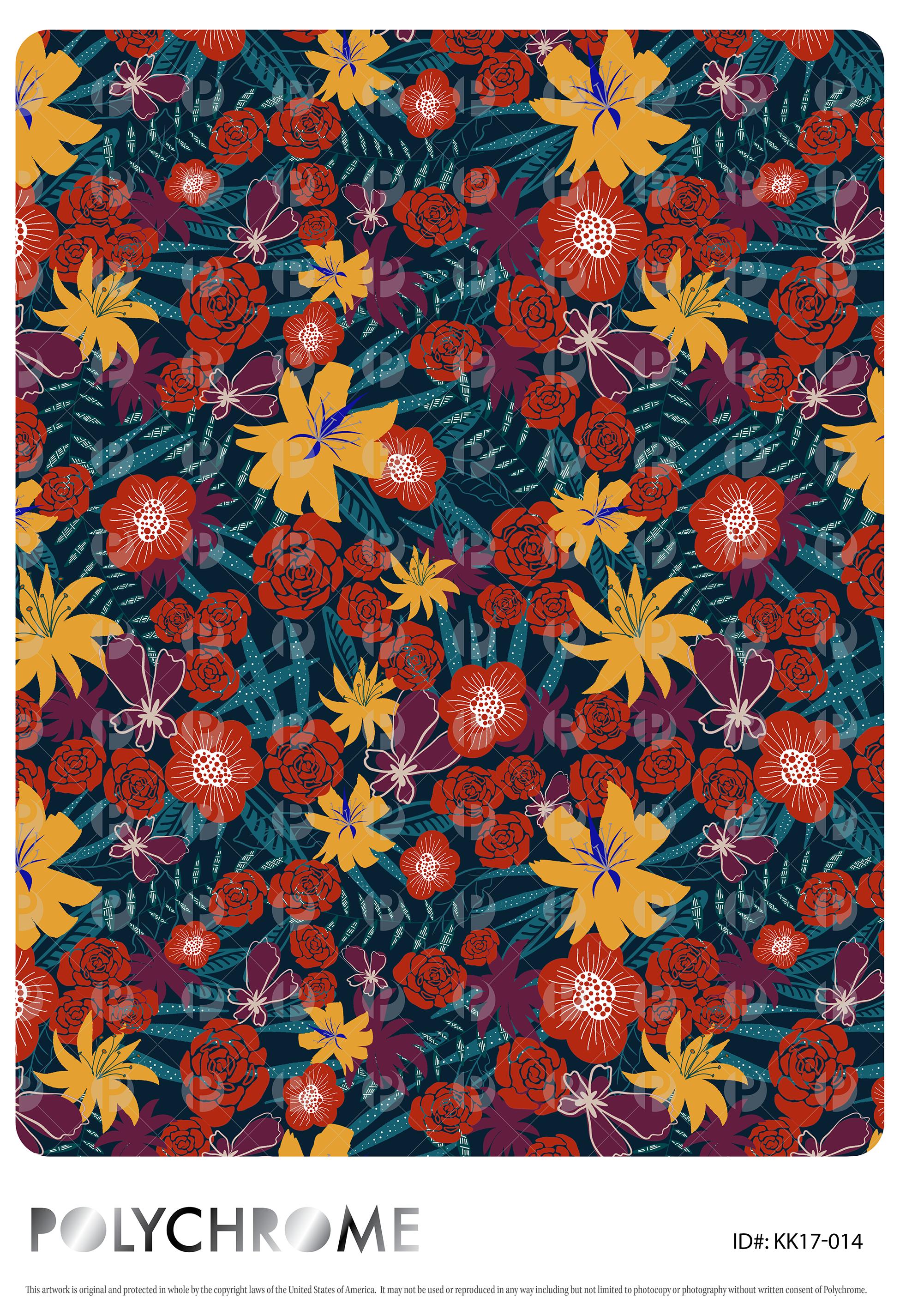 5c28f1b8a1028 Jungle Floral - tropical flower print pattern repeat | Hawaiian ...