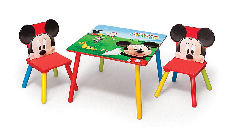 Mickey Mouse Kleiner Tisch Und Stuhle Tolle Sitzgruppe Fur Das Kinderzimmer Kleiner Mickey Maus Fans Der Farbenfroh Presentes Para Familia Criancas Presentes