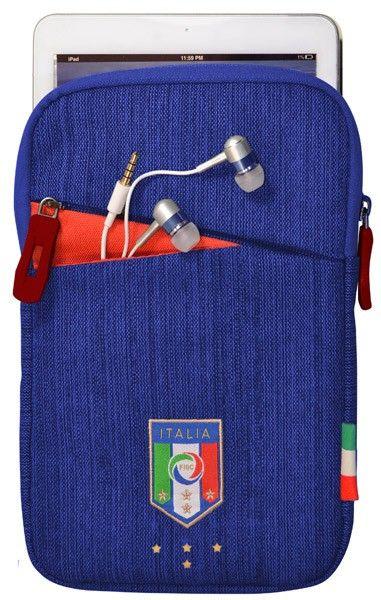 "Federazione Italiana Giuoco Calcio 7"" Tablet Linen bag, blue tablet case, blue. #Fonexion"