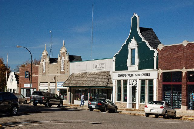 Orange City Dutch Storefronts Orange City College Town City