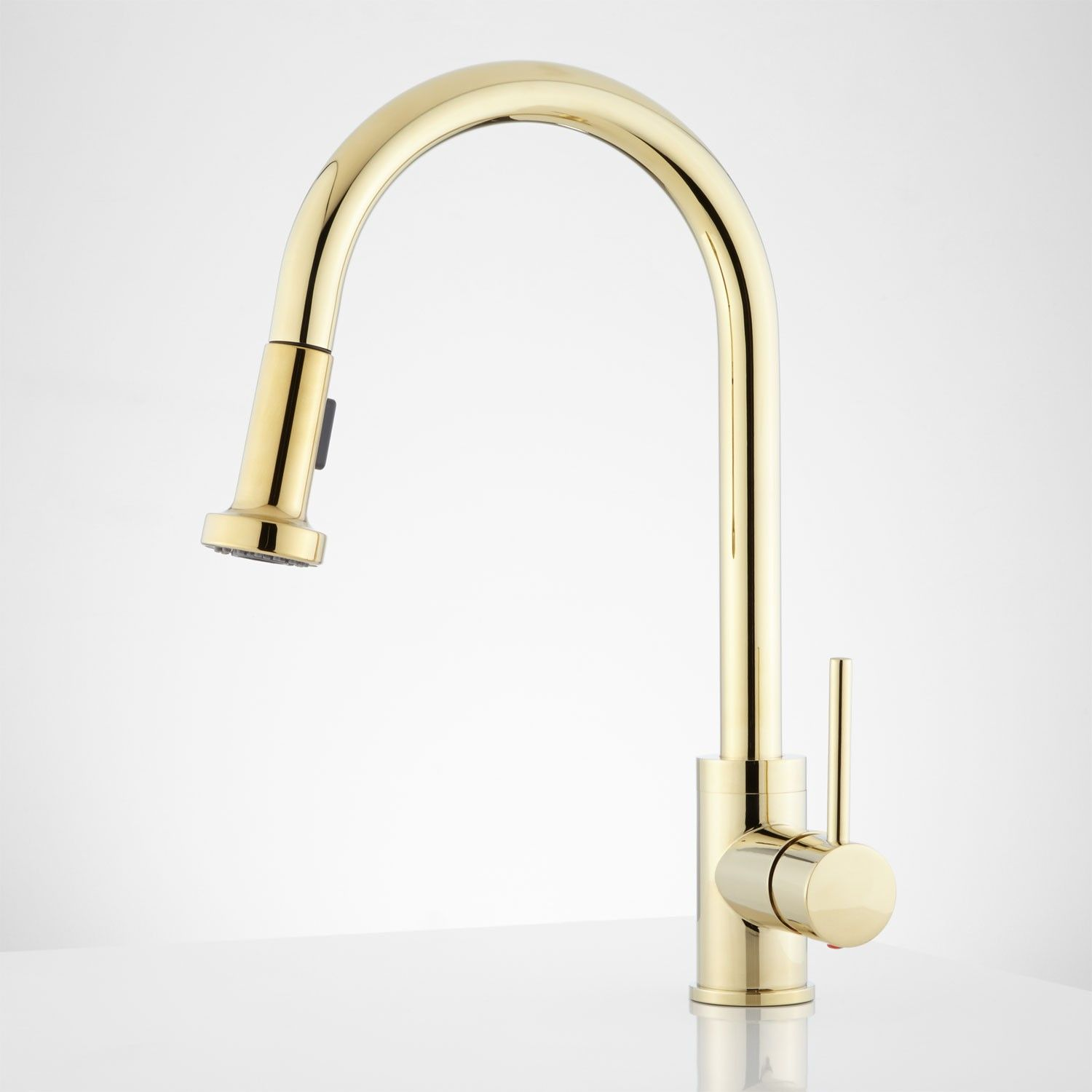 Bainbridge Single Hole Pull Down Kitchen Faucet With Contemporary Lever    Kitchen