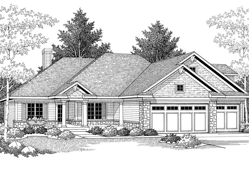 Murphy Traditional Home Decorative Columns Create A Dramatic Feel To This Traditional Home From Houseplansand Shingle House Plans Ranch House Traditional House