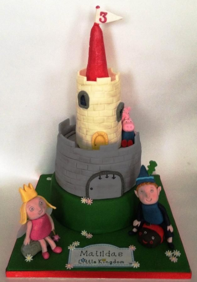 ben and holly castle cake  castle cake ben and holly cake