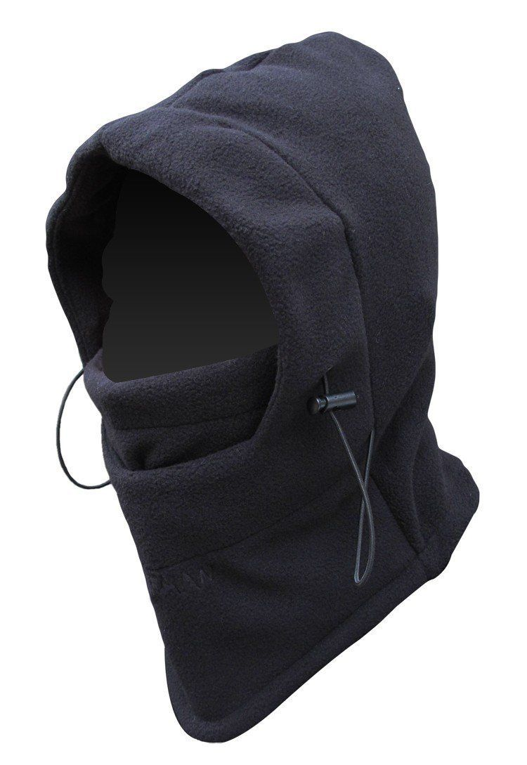 FULL FACE Mask Fleece Hood Tactical Balaclava Black | outdoor gear ...