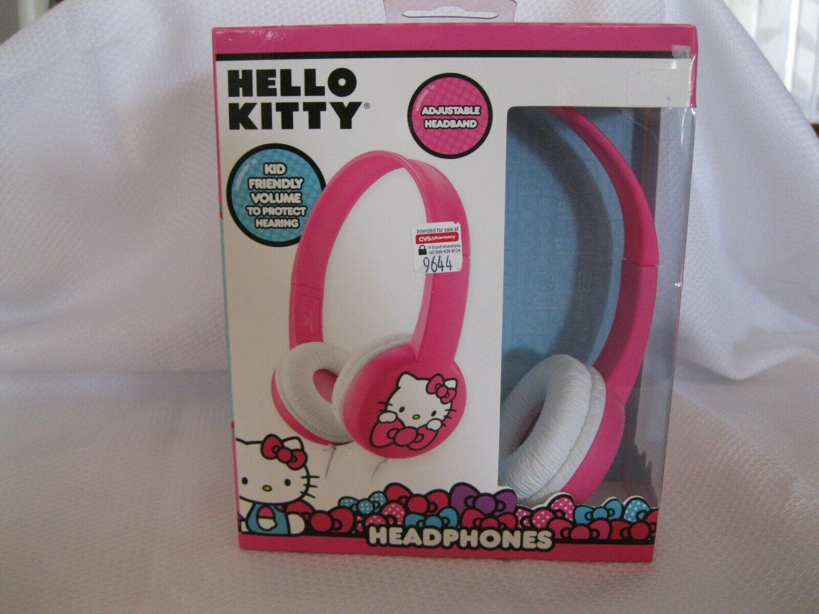 Hello Kitty By Sanrio Kid Friendly Wired Headphones With Adjustable Headband New Hello Kitty Headphones Wired Headphones