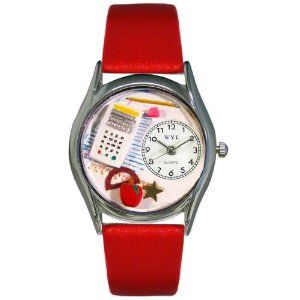 Whimsical Watches Women's S0640011 Math Teacher Red Leather Watch Whimsical Watches. $40.99