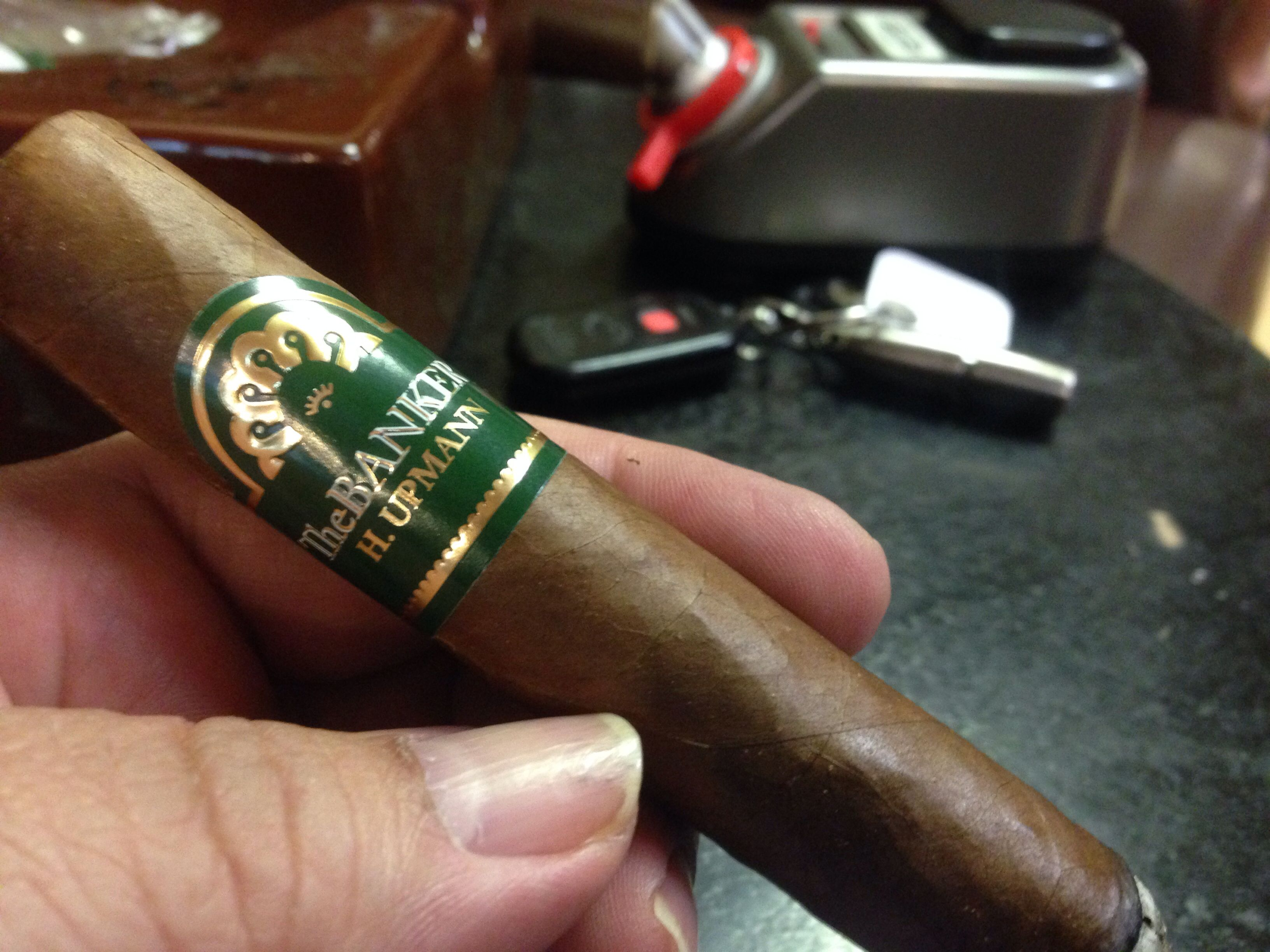 "The new H. Upmann ""The Banker"". A good middle of the road smoke. 