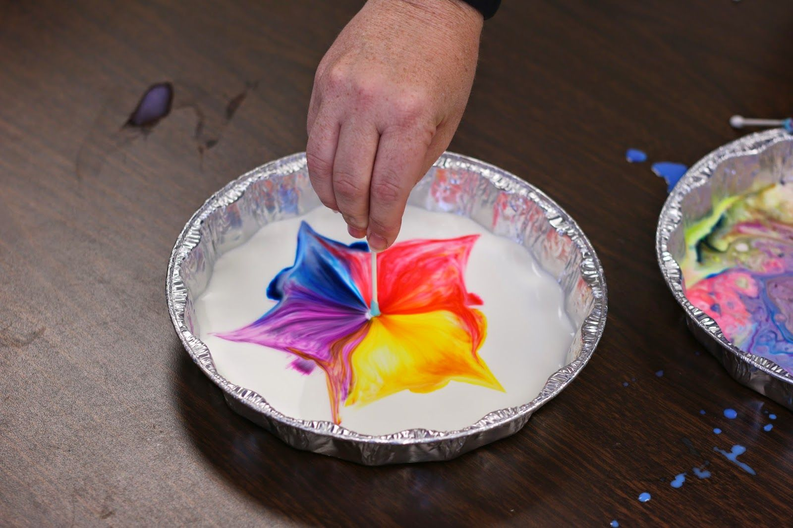 Making Colors Dance-Fun Science experiment with milk, food coloring ...