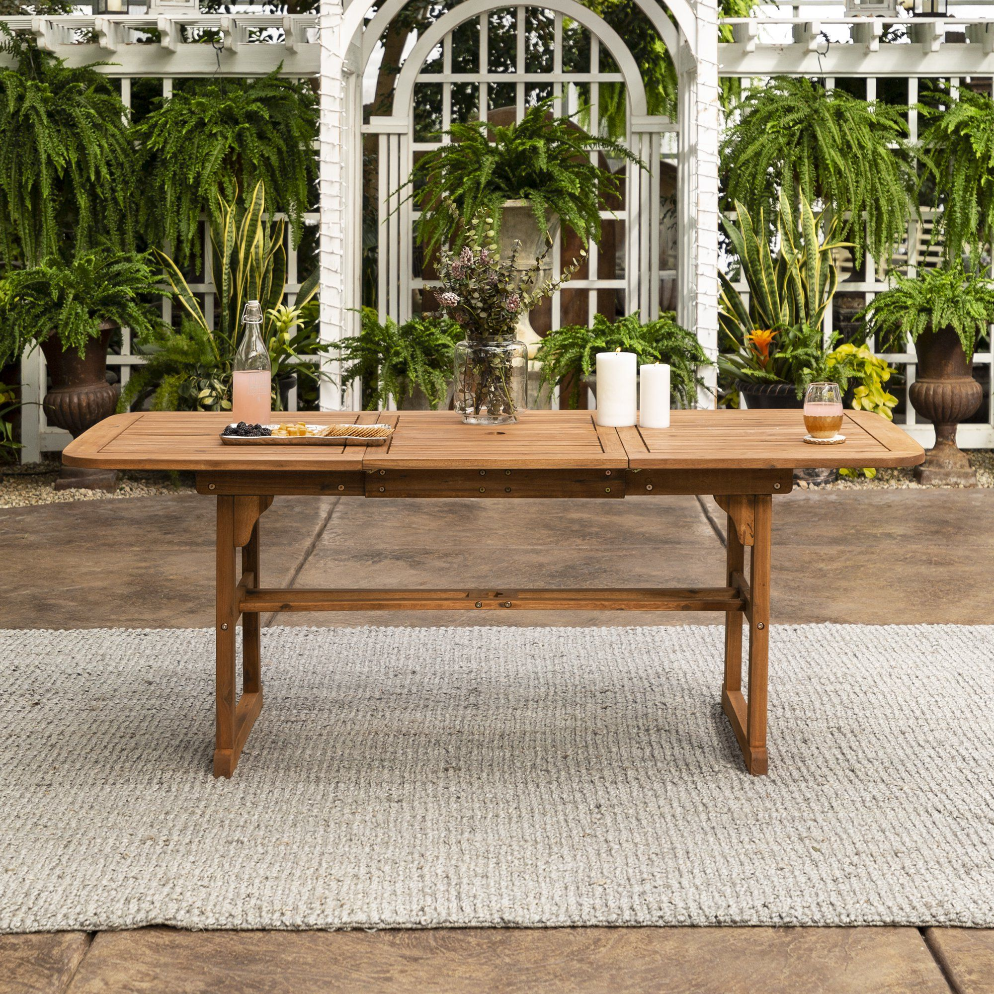18++ Patio dining set with extendable table Top