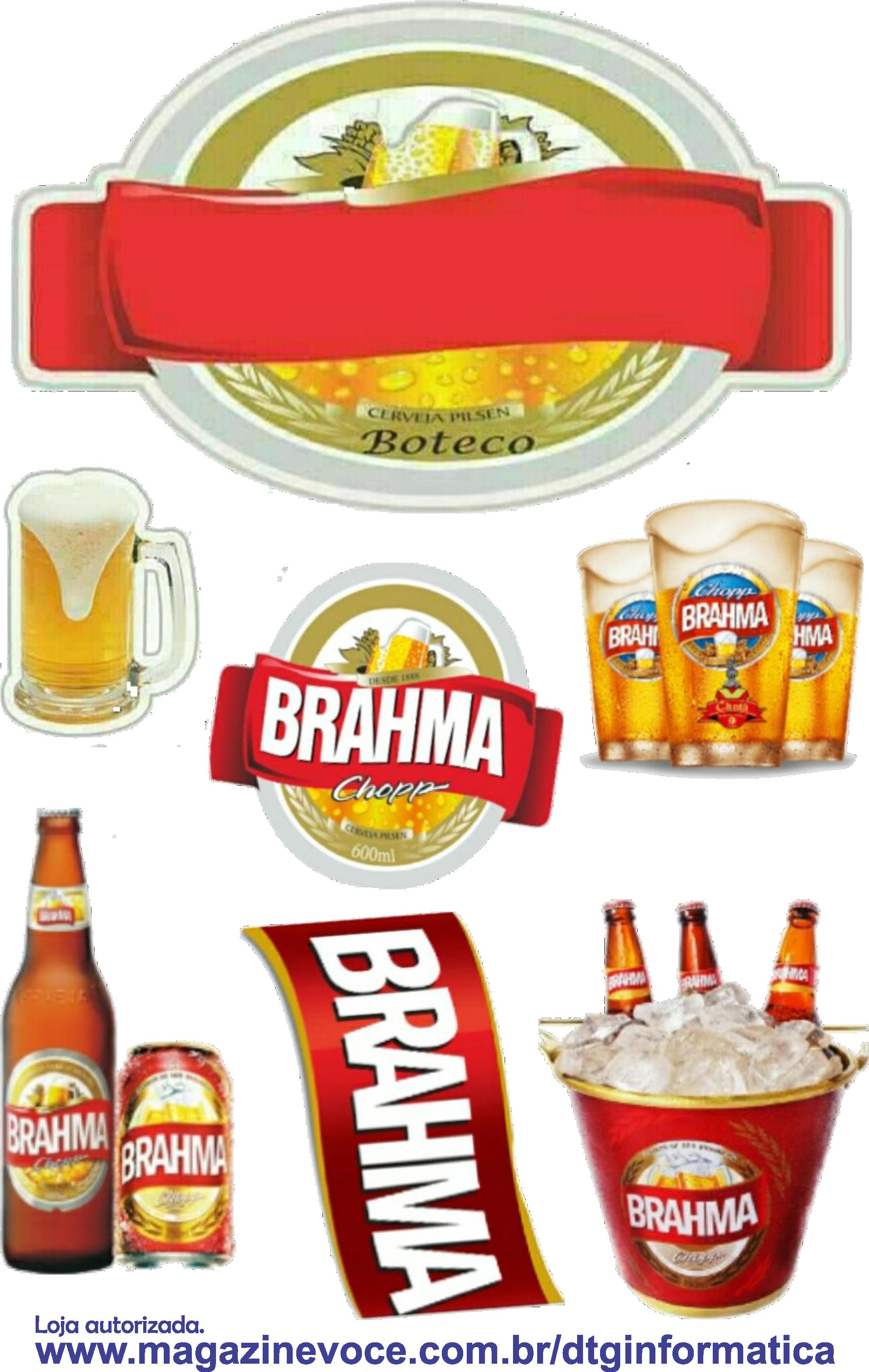 Topo Para Bolo Com Tema Boteco Da Cervejaria Brahma Comida De