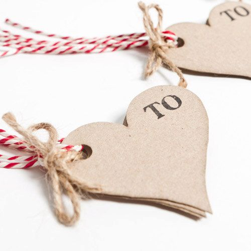 Recycled Heart Shaped Gift Tags by SophiaVictoriaJoy on Etsy