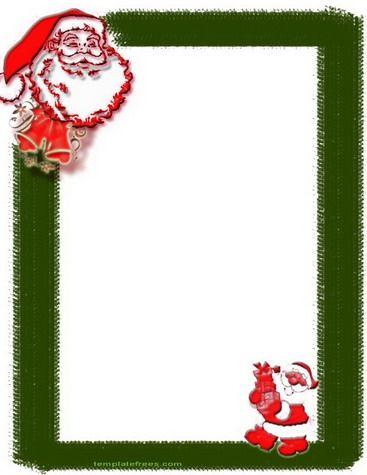 Santa claus christmas borderationary christmas stationary santa claus christmas borderationary spiritdancerdesigns Choice Image