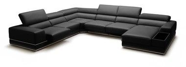 Brilliant Slide Out Seats Adjustable Headrests Black Leather Sectional Creativecarmelina Interior Chair Design Creativecarmelinacom