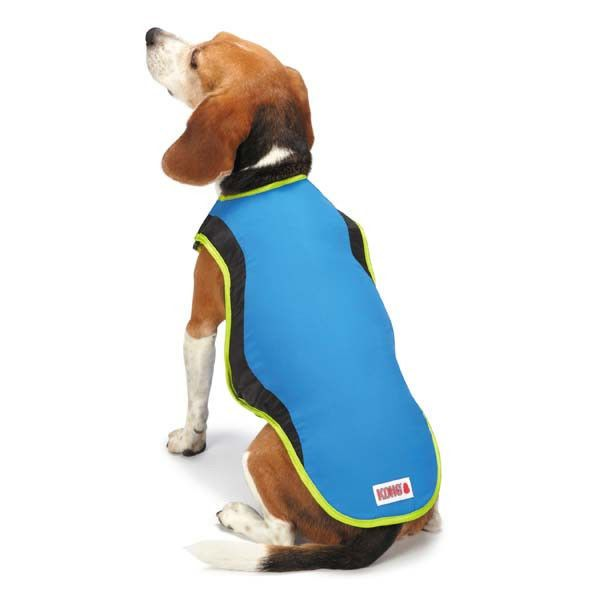 Kong Cool Pup Coat Cooling Jacket Vest W Ice Pack For Hot Weather