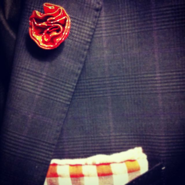 Lapel flower from J and HP Clothing in Nashville, TN.