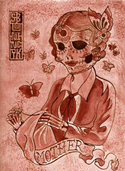 dia de los muertos mother (artist unknown)