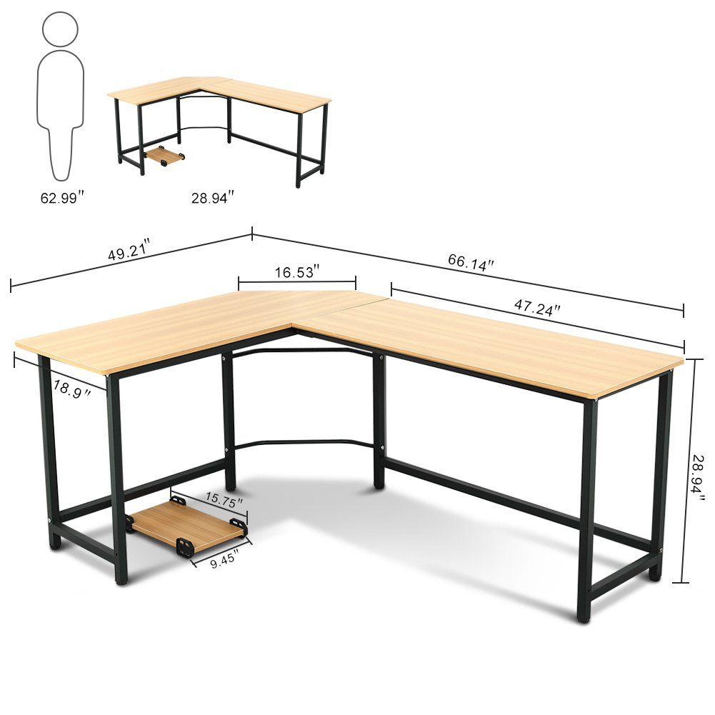 buy popular 53366 e1b01 Tribesigns Modern L-Shaped Desk Corner Computer Desk PC ...