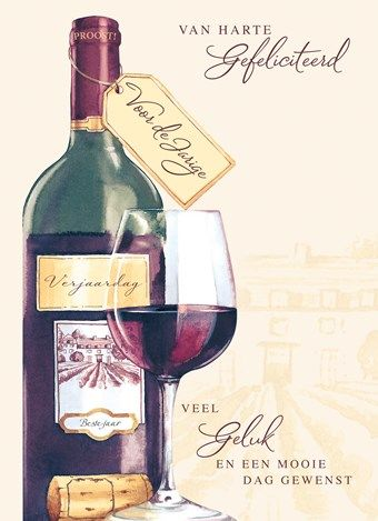 verjaardag man wijn