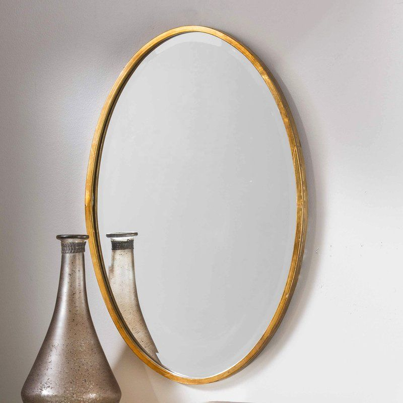 Dudley Gold Oval Accent Mirror Gold Mirror Wall Mirror Wall Living Room Antique Mirror Wall