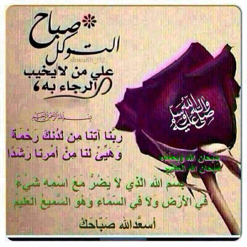 صباح التوكل على الله Arabic Quotes Quotes Arabic