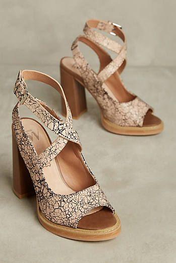 807aaf26b3 Vanessa Wu Textured Leather Block Heel Sandals | ✭SHOES✭ | Heels ...