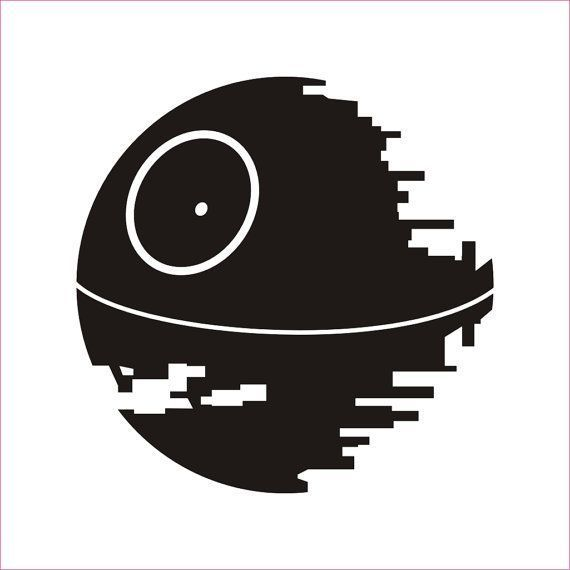 Img Clipartfest Com 6c8856d6b9471b3bf2cabb6c29722fca Millenium Falcon 2 Death Star Clipart Border 570 570 Star Wars Silhouette Star Wars Stencil Star Wars Art