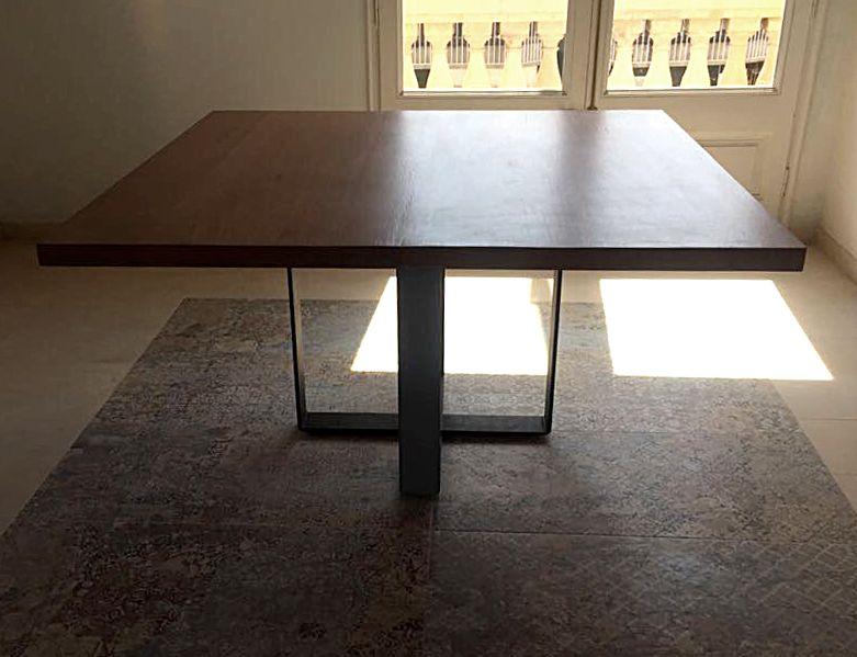 Mesa cuadrada en madera de niang n origen frica sobre for Donde venden ceramica barata