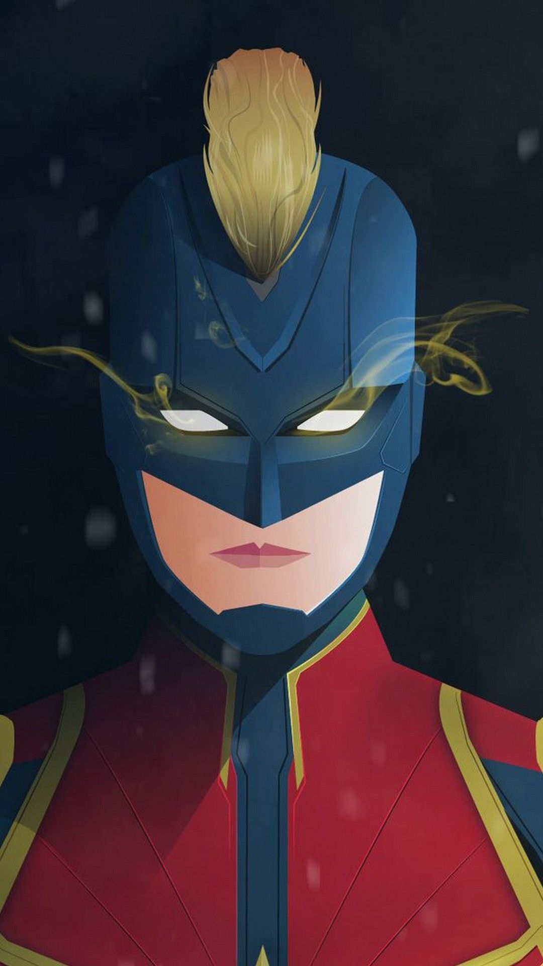 Captain Marvel Animated iPhone 7 Wallpaper Marvel