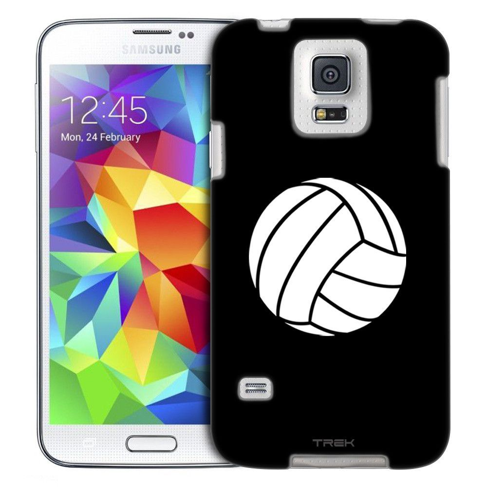 Samsung Galaxy S5 Silhouette Volleyball On Black Slim Case Samsung Galaxy S5 Galaxy S5 Volleyball Phone Cases