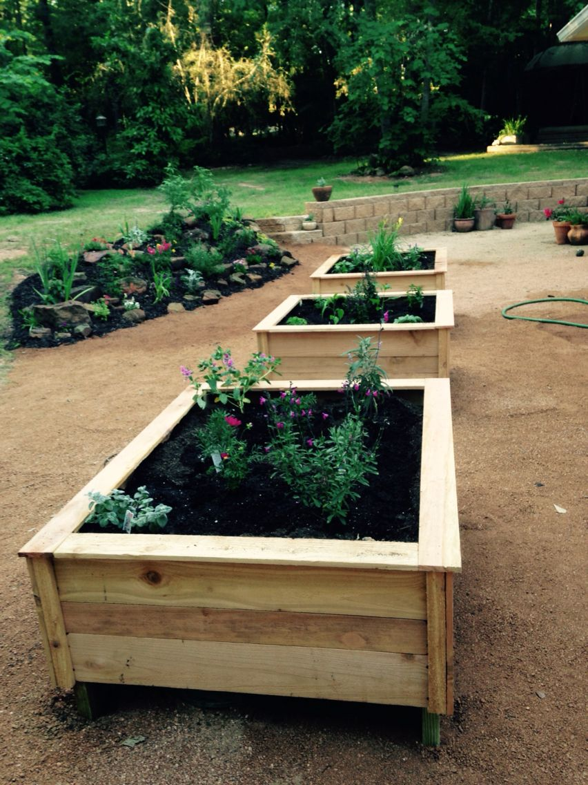 Fence picket planters to disguise the septic lids (all