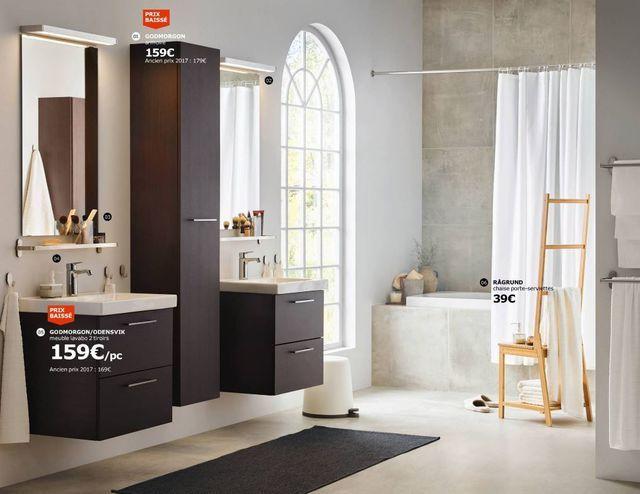 Salle de bain Ikea  le nouveau catalogue 2018 - ikea meuble salle de bain godmorgon