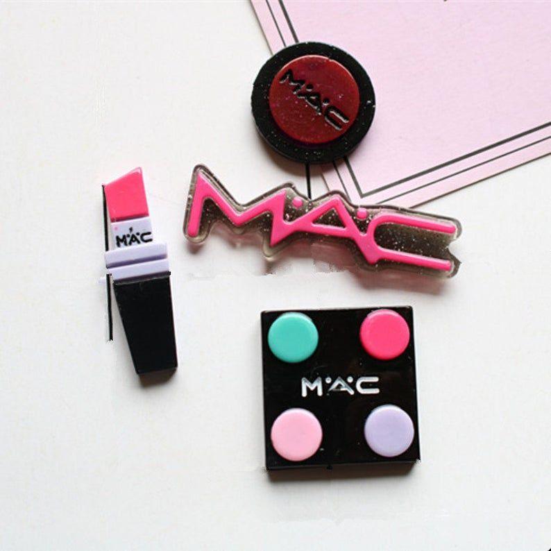 10pcs resin mac makeup kit kawaii miniature cabochon flat