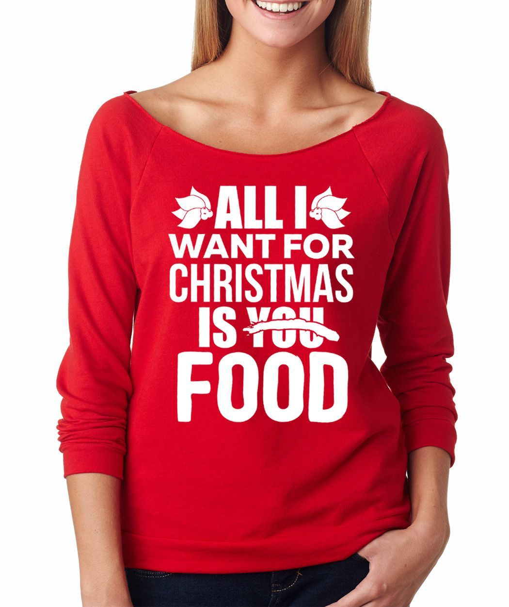 All I Want For Christmas Is Food Raglan Shirt Raglan Shirts Black Hot Pink Hot Pink Zebra