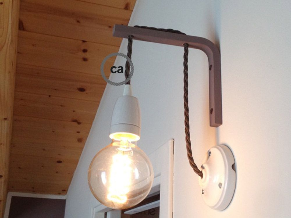 A Nice Idea For The Bedroom Lighting Made By One Of Our Customers Ita Www Creative Cables It Usa Www Creative Cables Com Eur Gluhbirne Lampe Ikea Wandleuchte