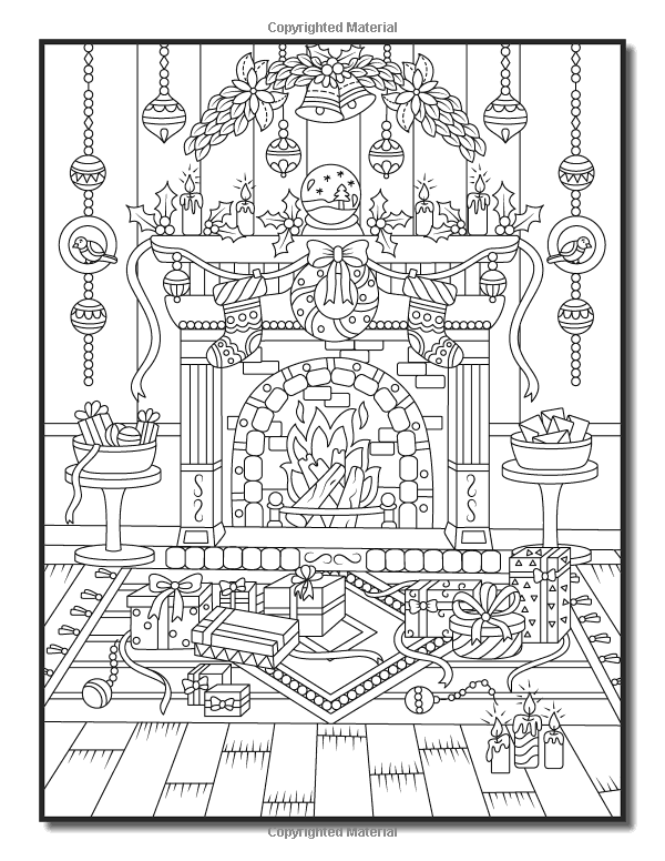 Christmas Coloring Book: An Adult Coloring Book with Fun, Easy, and Relaxing Col...