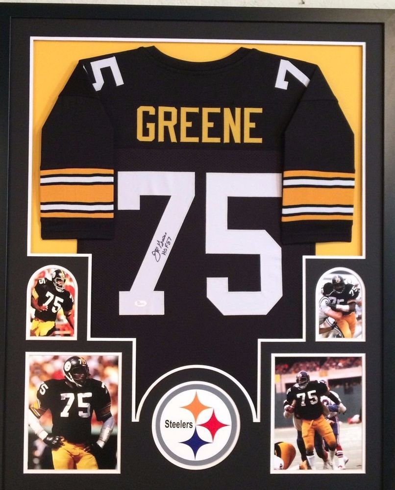 e424dfb51 FRAMED JOE GREENE AUTOGRAPHED SIGNED INSC PITTSBURGH STEELERS JERSEY JSA COA