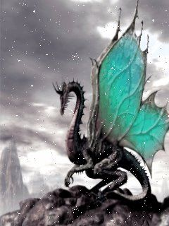 the rare black, butterfly winged, ice dragon
