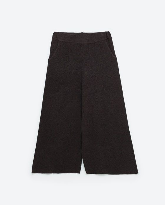 Image 8 of RIBBED TROUSERS from Zara